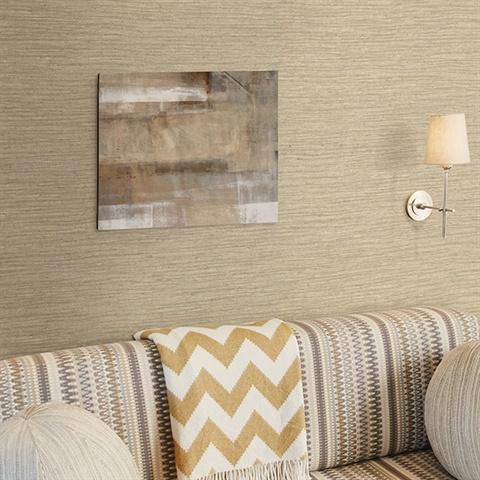 Bennie Taupe Faux Grcloth Wallpaper