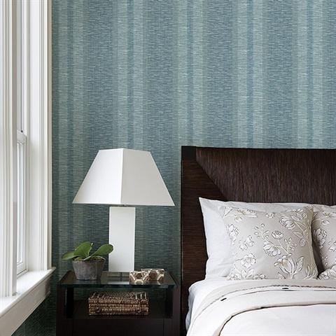 2949 60104 Pezula Teal Texture Stripe Wallpaper