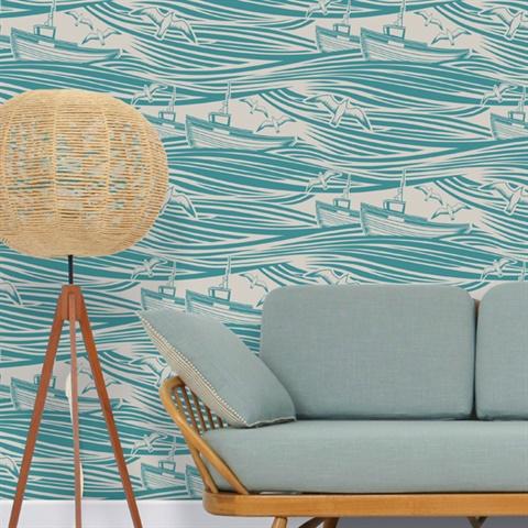 Lido colourway wallpaper