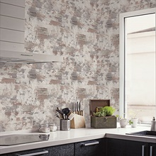 Red Deconstructed Faux Brick Wallpaper, G67989