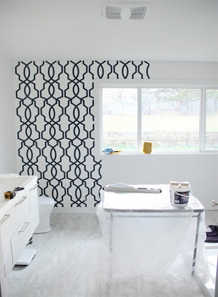 Hourglass Trellis Ge3664 Navy Amp White Trellis Wallpaper