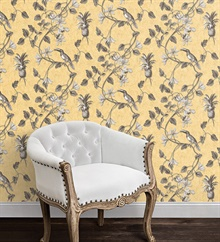 Toucan Bird On A Vine Yellow Wallpaper , MH36531