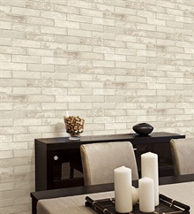 LL29532 White Brick Textured Wallpaper