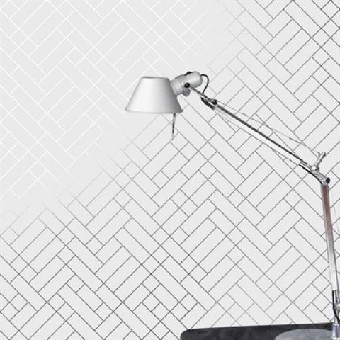 ... Tapet Café Tiles silver/white Wallpaper ...