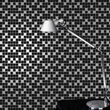 Tiles black/silver Wallpaper