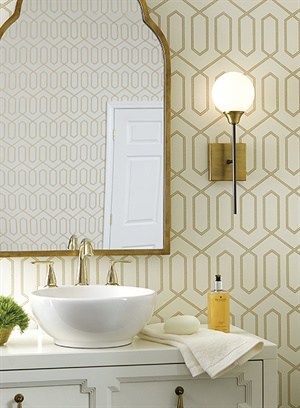 Dotted Trellis Wallpaper, DR6326