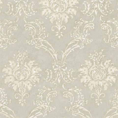 Grey Devon Damask