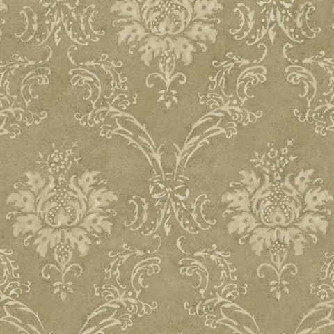 Gold Devon Damask