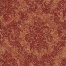 Dark Red Dreamy Damask