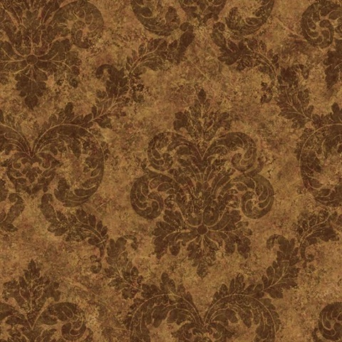 Chocolate Dreamy Damask