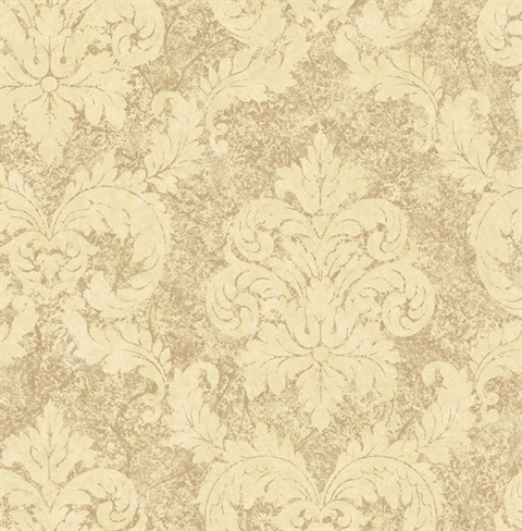 Light Brown Dreamy Damask