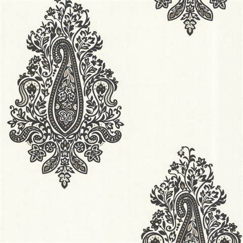 Dynasty Black Paisley