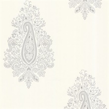 Dynasty Light Grey Paisley