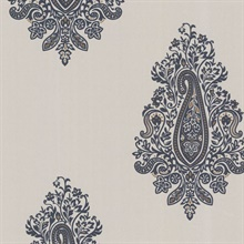 Dynasty Charcoal Paisley
