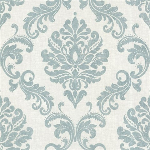 Sebastion Aqua Damask