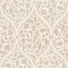 Adelaide Taupe Ogee Floral