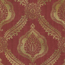 Zoraya Burgundy Damask