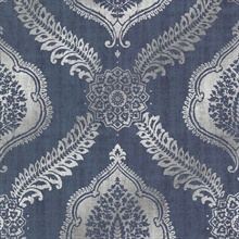 Zoraya Navy Damask