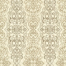 Mexuar Taupe Filigree Stripe