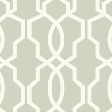 Hourglass Trellis Wallpaper - White/Gray