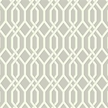 Garden Pergola Wallpaper - Cream/Gray
