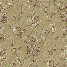 Painterly Ornamental Damask