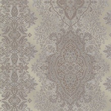 Benedict Pewter Ornate Paisley Stripe