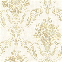 Manor Cream Floral Damask