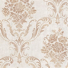 Manor Fog Floral Damask