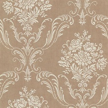 Manor Copper Floral Damask