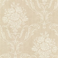 Manor Beige Floral Damask