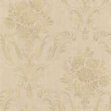 Manor Gold Floral Damask