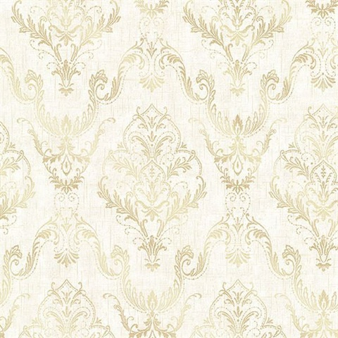 Wiley Cream Lace Damask