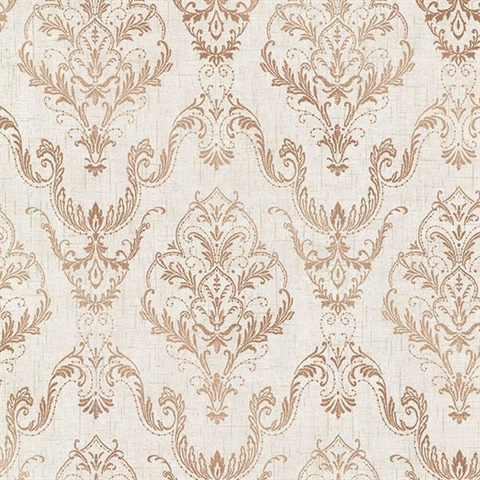 Wiley Copper Lace Damask