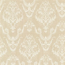 Wiley Beige Lace Damask