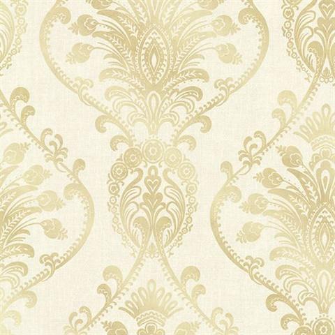 Noble Cream Ornate Damask 2665 21456