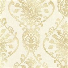 Noble Cream Ornate Damask