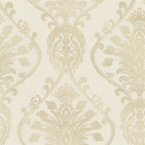 Noble Fog Ornate Damask
