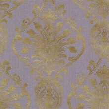 Noble Purple Ornate Damask