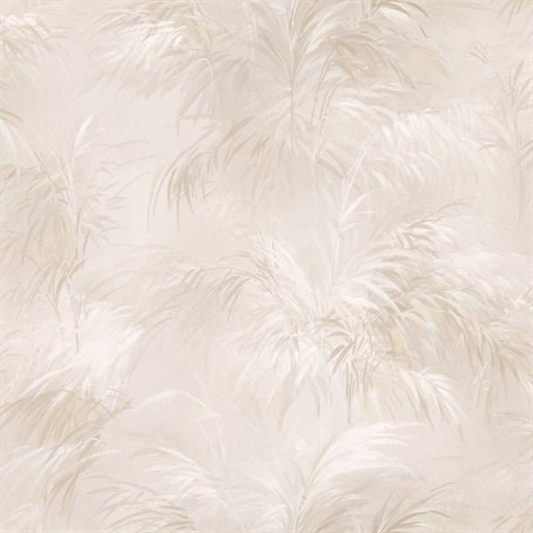 Kaley Cream Satin Leaves