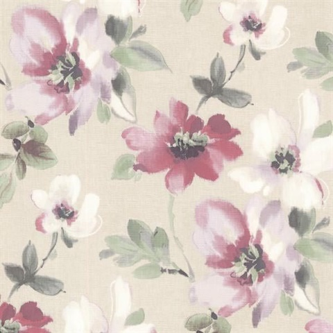 Lynette Violet Watercolour Floral