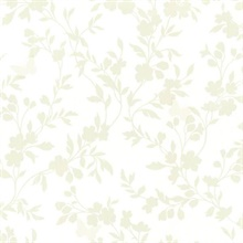 Layla Light Green Floral Trail Silhouette