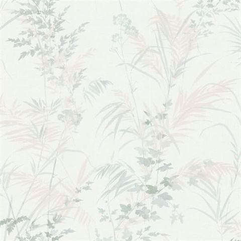 Tory Ivory Tropical Leaves