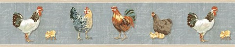 Bailey Sky Rooster & Script Border