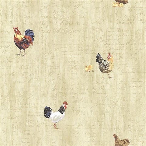 Lisle Wheat Roosters & Script