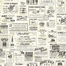Adamstown Cream Vintage Newspaper