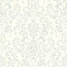 Presley Blue Country Damask