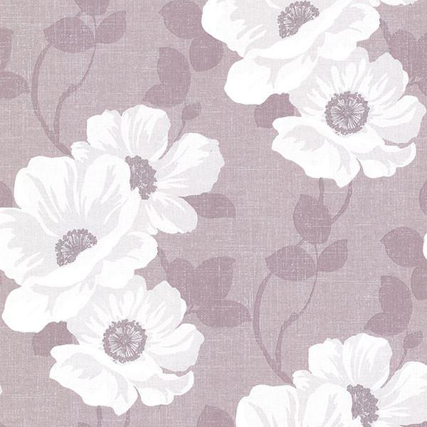 Leala Lavender Modern Fl Wallpaper