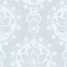 Lourdes Light Blue Damask Medallion