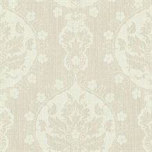 Lourdes Wheat Damask Medallion